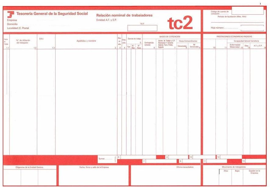 Modelos TC2 y TC1 para la acreditación de un conductor en un ...