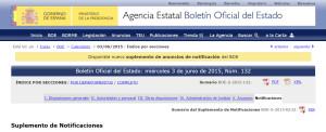 TEU - Apartado Notificaciones del BOE