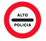 Señal control policía