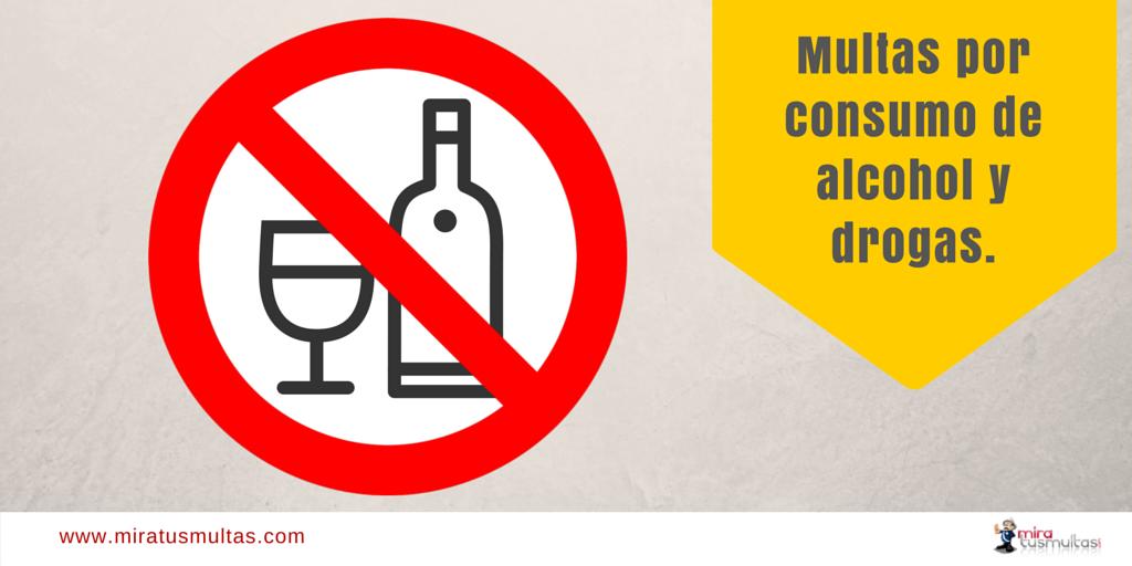 Multas por consumo de alcohol y drogas