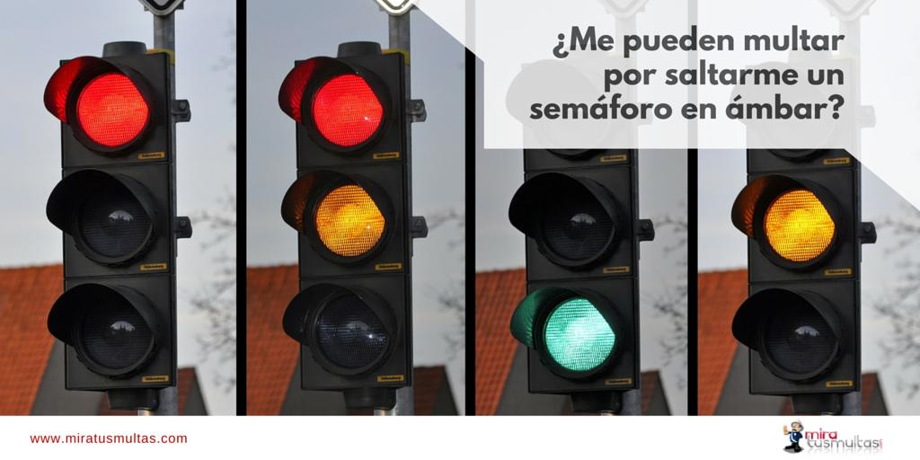 Multas por saltarme un semáforo en ámbar