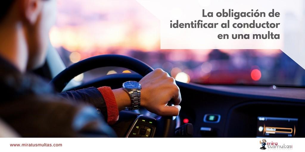 es necesario cumplir con la identificación del conductor en una multa? |