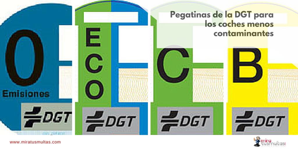 Pegatinas DGT - Clasificación coches contaminantes
