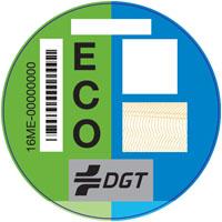 Pegatina vehículos clasificación ECO