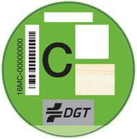 Pegatina vehículos clasificación C.