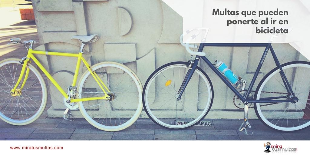 Multas que pueden ponerte cuando conduces una bicicleta - Miratusmultas