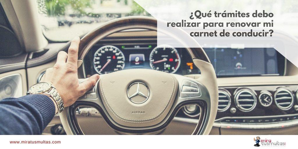 Renovar carnet de conducir. Miratusmultas