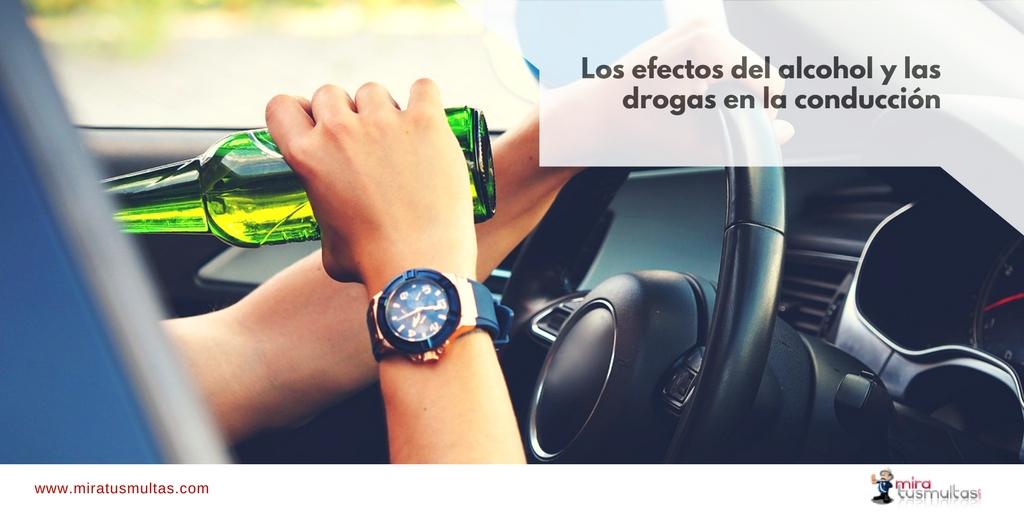 Efectos del alcohol y las drogas en la conducción. Miratusmultas.com