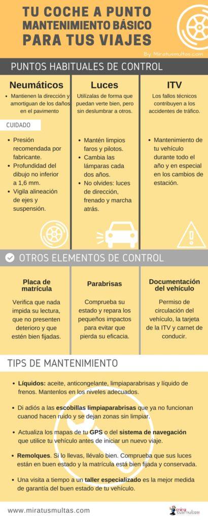 Mantenimiento básico del vehículo. Miratusmultas.com