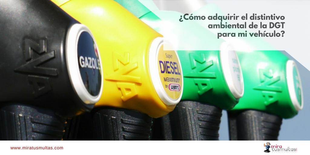 Adquirir distintivos ambientales DGT. Miratusmultas.com