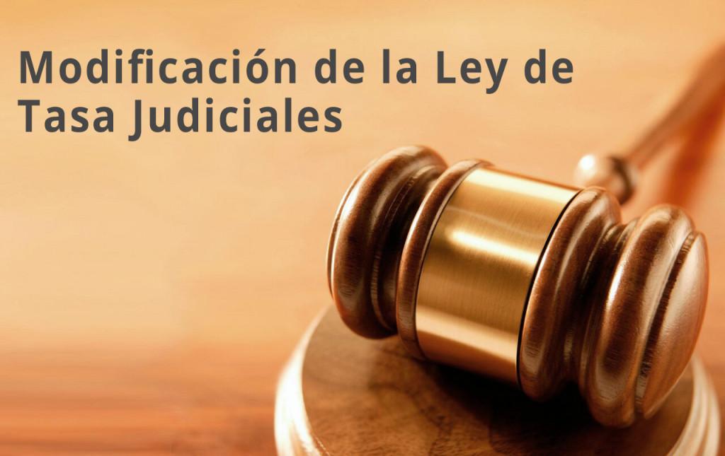 Modificación de Tasas judiciales