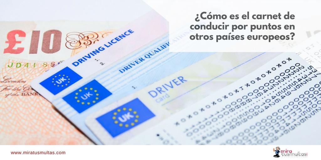 Permiso por puntos en otros países europeos - Miratusmultas.com