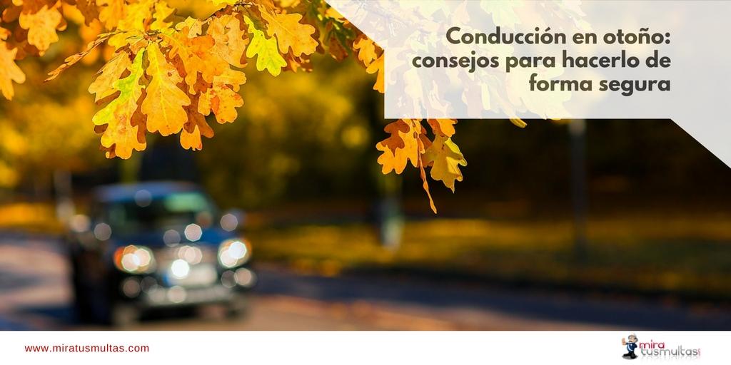 Conducción segura en otoño. Miratusmultas.com