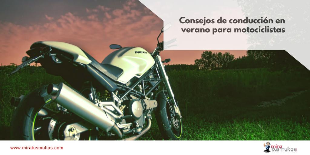 Consejos de conducción para motocicletas en verano - Miratusmultas