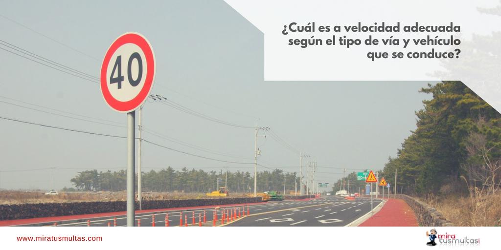 Velocidad según vía y vehículo. Miratusmultas